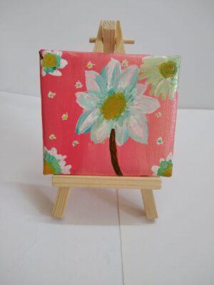 Acrylic Flower on Canvas pad