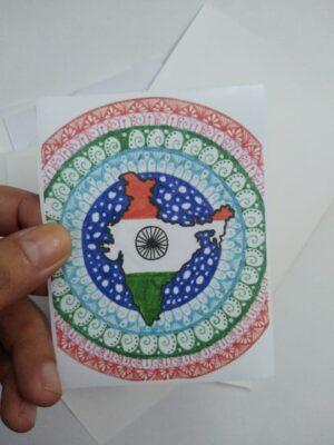 Indian Flag Mandala Sticker